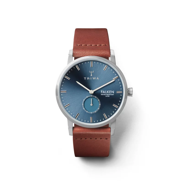 Triwa Watches - Blue Ray Falken - Brown Classic - front view