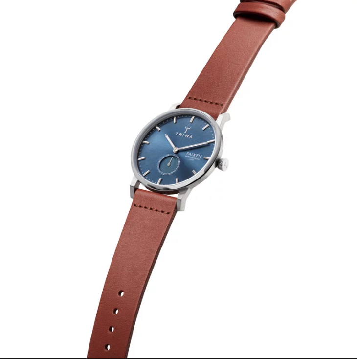 Triwa Watches - Blue Ray Falken - Brown Classic - side view