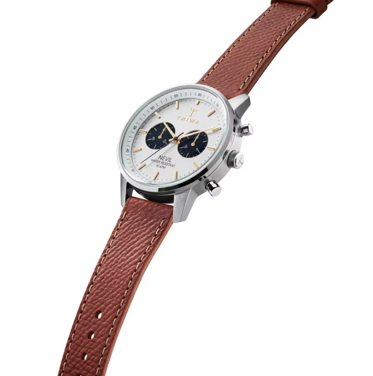 Triwa Watches - Loch Nevil - Brown Tumbled Sewn Classic 2 - side view