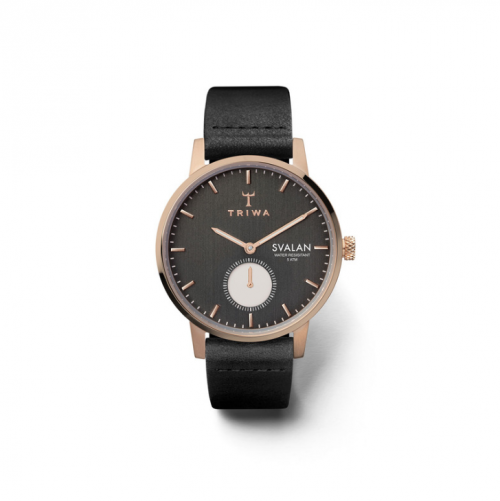Triwa Watches - Noir Svalan - Black Classic Super Slim - front view
