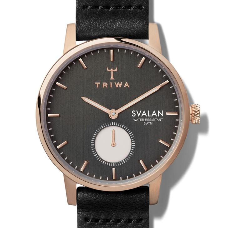 Triwa Watches - Noir Svalan - Black Classic Super Slim - detail