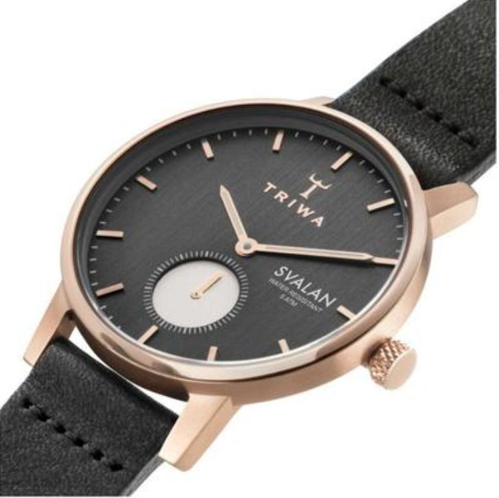 Triwa Watches - Noir Svalan - Black Classic Super Slim - side view