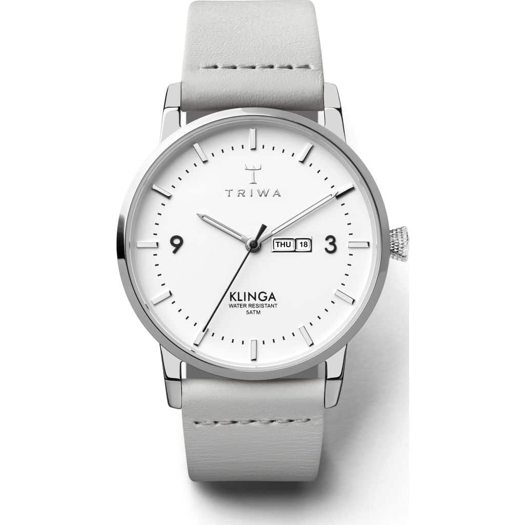Triwa watches - Snow Klinga - Light Grey Silver Buckle - front