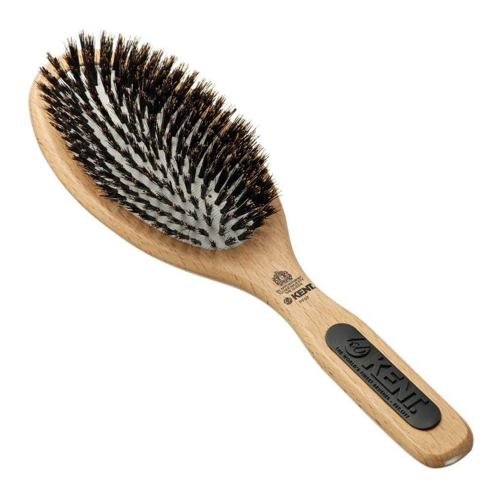 Kent Large Oval Paddle Brush with Pure Bristles - PF07