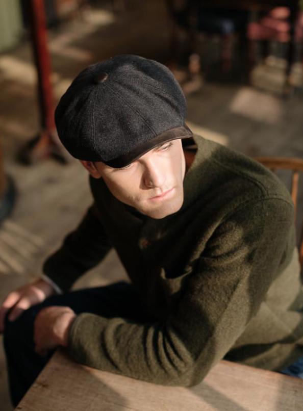 Dasmarca Eden Bakerboy Cap in Slate - model