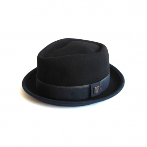 Dasmarca Edward Porkpie hat in black and navy