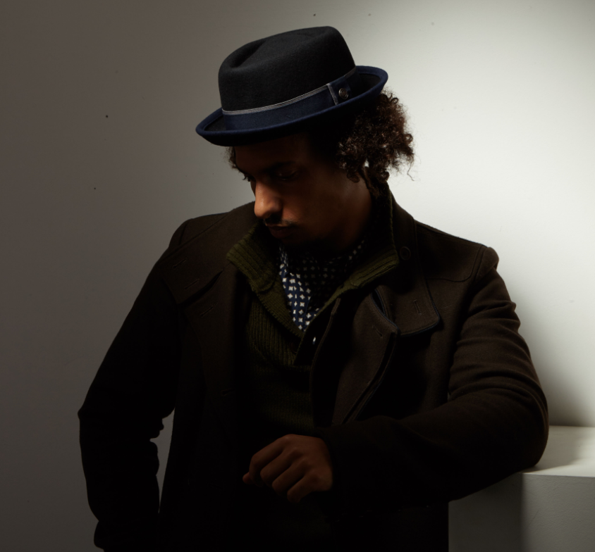 Dasmarca Edward porkpie hat in black/navy - studio