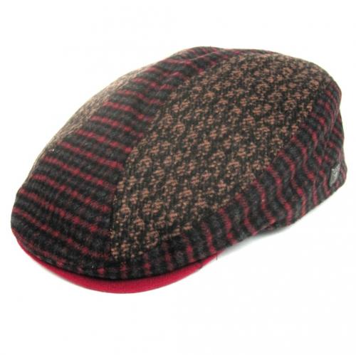Dasmarca Felix tweed flat cap in Wine