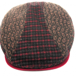 Dasmarca Felix tweed flat cap in Wine - front