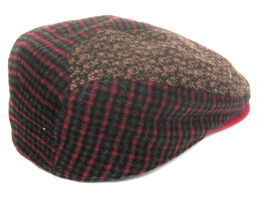 Dasmarca Felix tweed flat cap in Wine - back