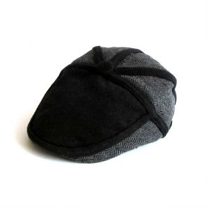 Dasmarca Roy flat cap in Slate - side